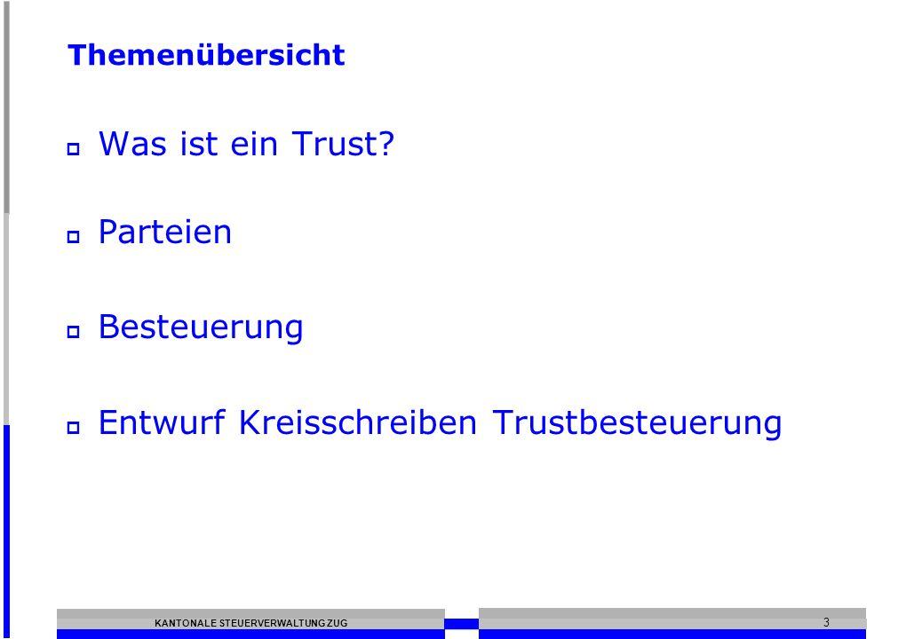 Entwurf Kreisschreiben Trustbesteuerung