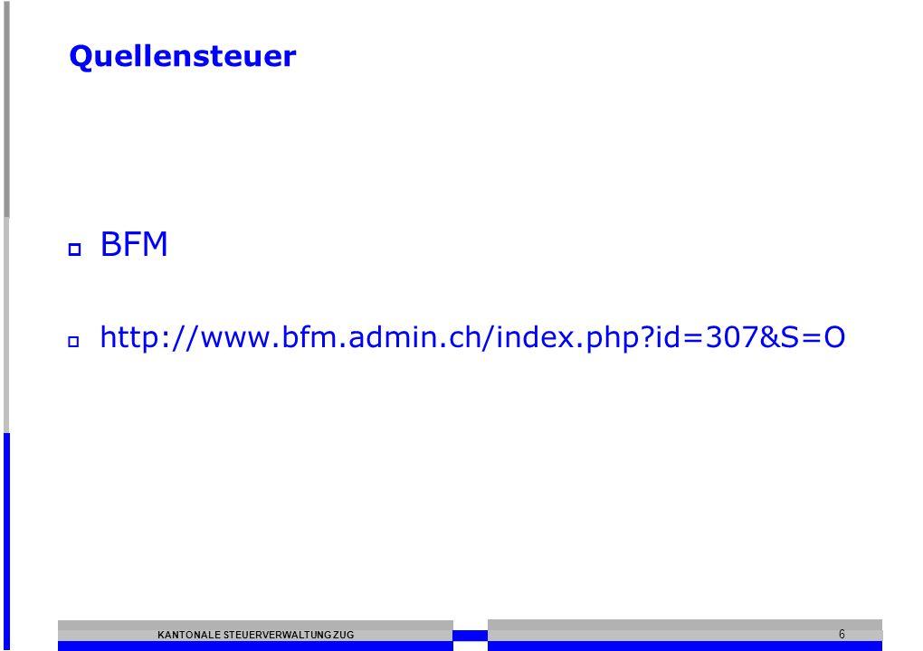 Quellensteuer BFM http://www.bfm.admin.ch/index.php id=307&S=O