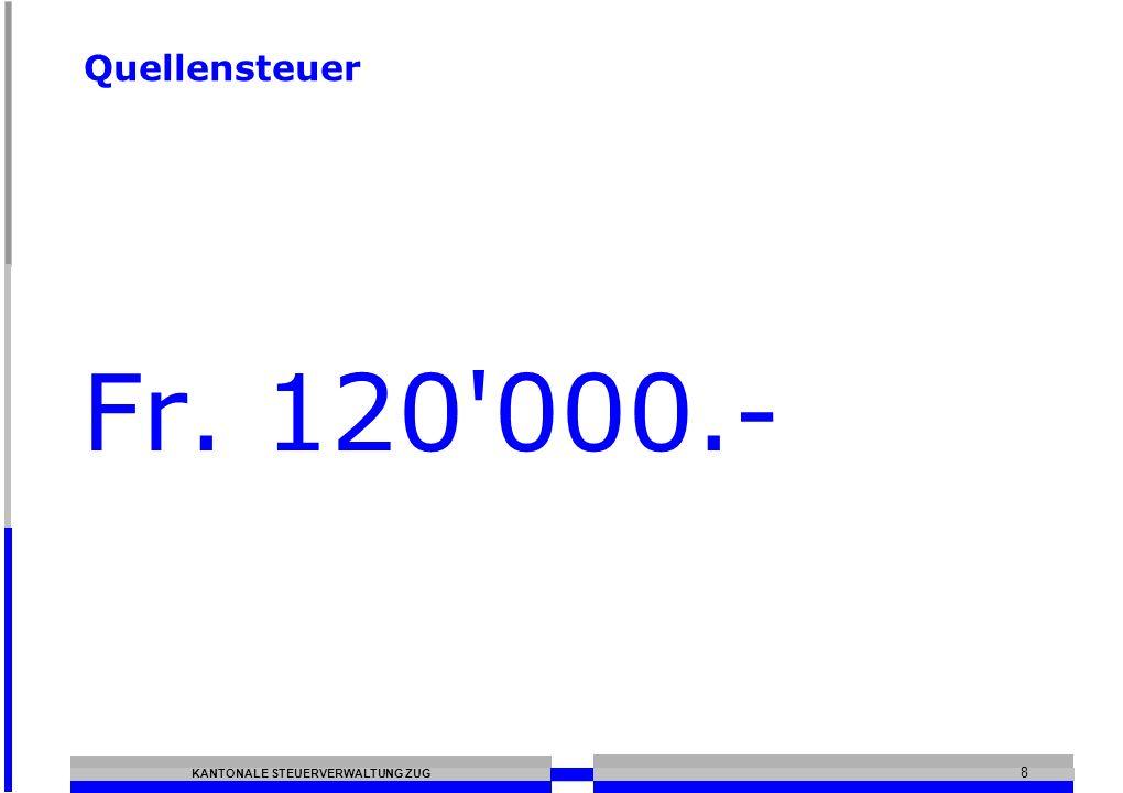 Quellensteuer Fr. 120 000.-
