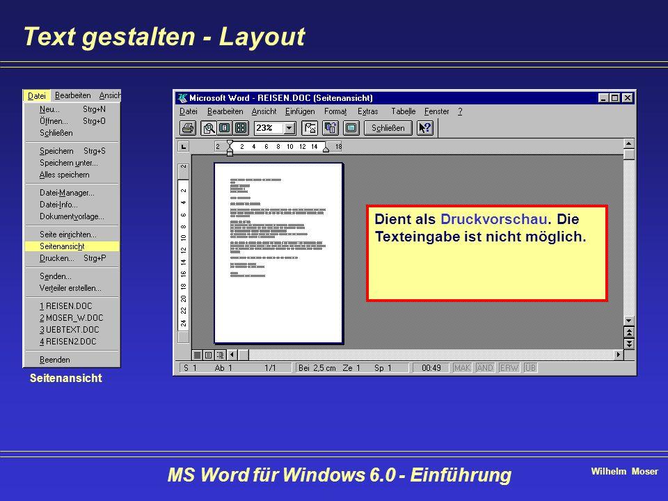 Text gestalten - Layout