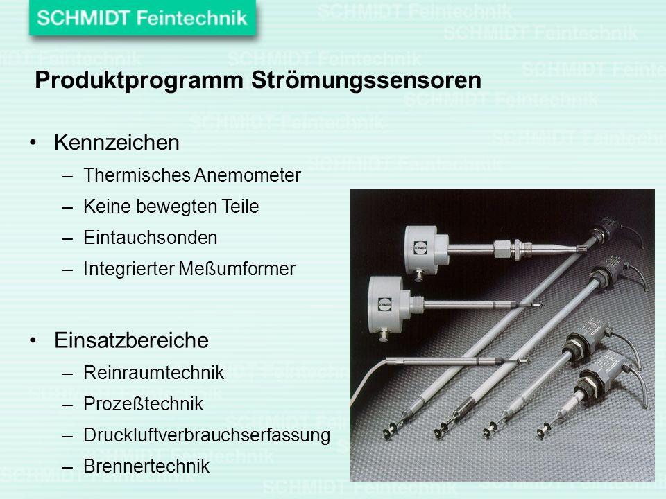 Produktprogramm Strömungssensoren