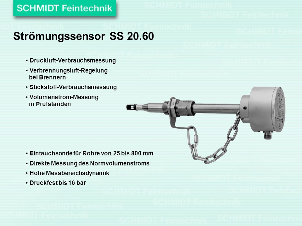 Strömungssensor SS 20.60 Druckluft-Verbrauchsmessung