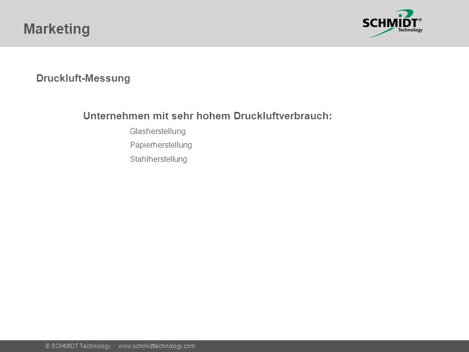 Marketing Druckluft-Messung