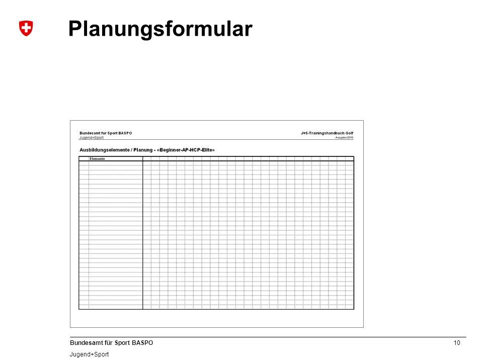 Planungsformular