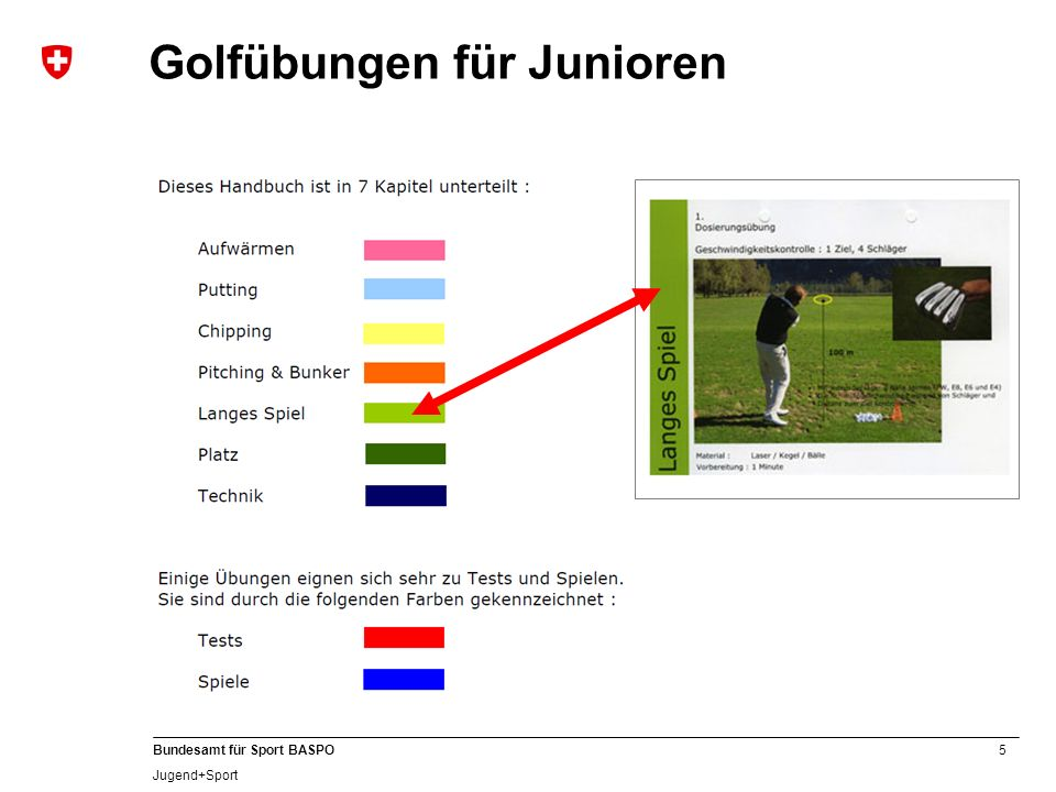 Golfübungen für Junioren