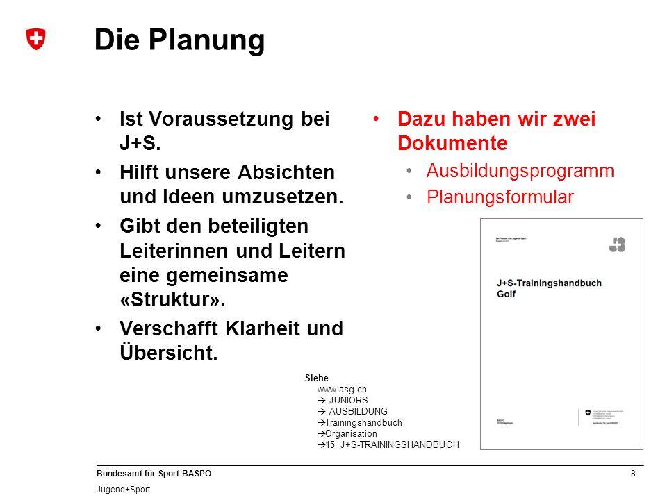 Die Planung Ist Voraussetzung bei J+S.