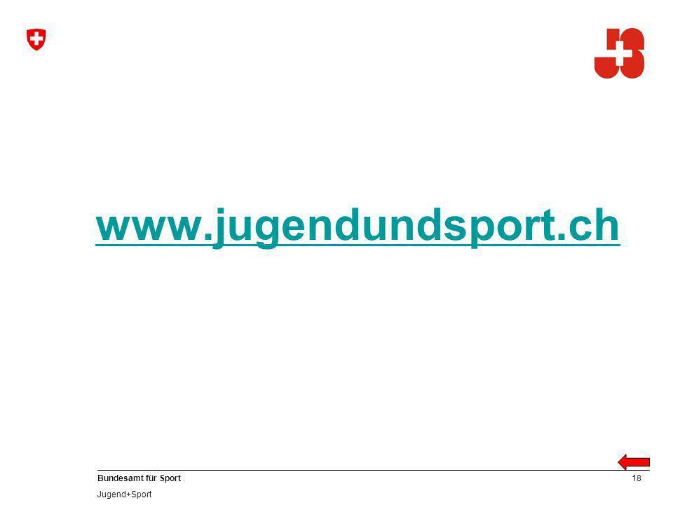 www.jugendundsport.ch Anzusprechen: Kaderbildung Ausbildungsstruktur