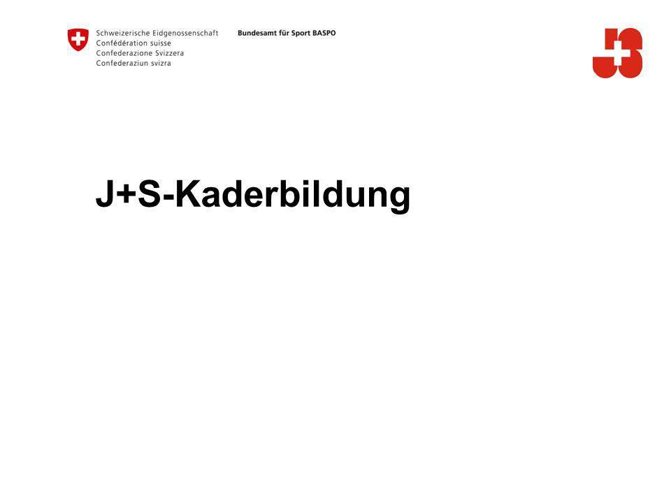 J+S-Kaderbildung Inhaltsverzeichnis: Ausbildungsstruktur