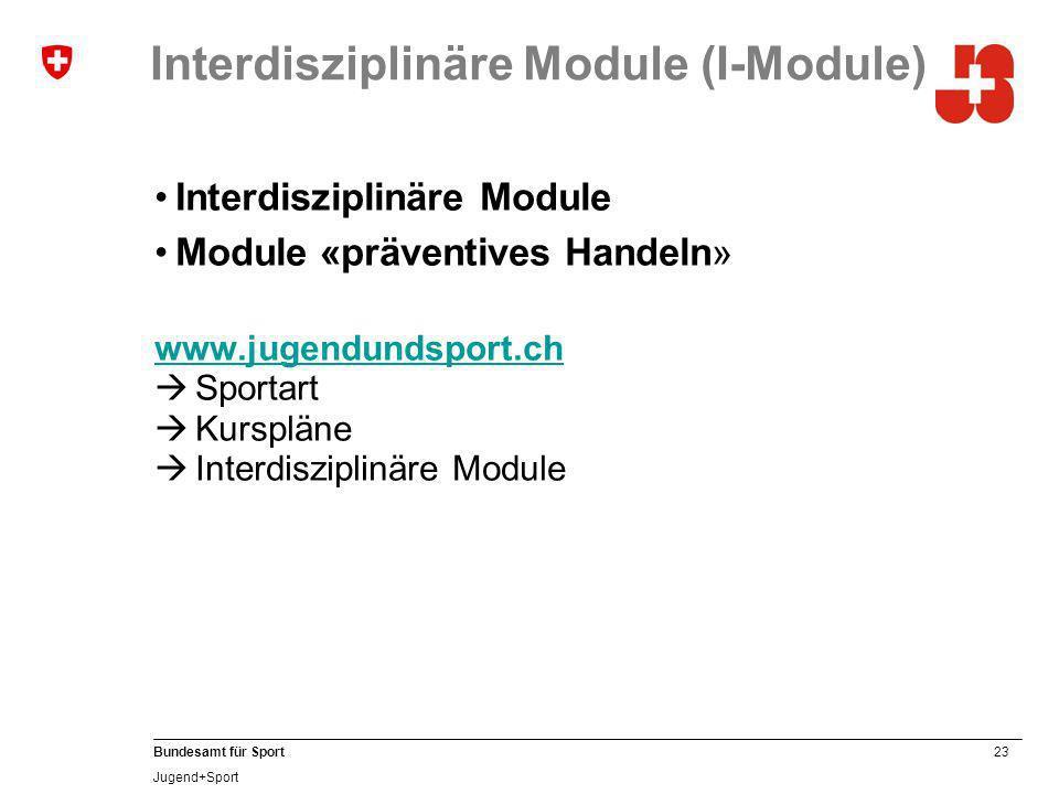 Interdisziplinäre Module (I-Module)