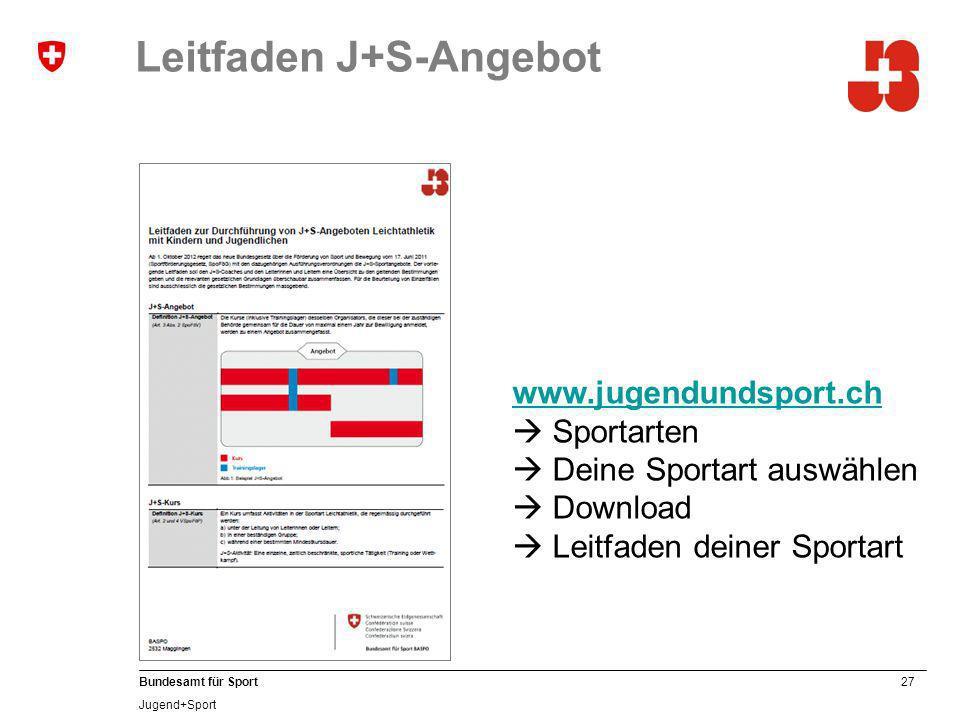 Leitfaden J+S-Angebot