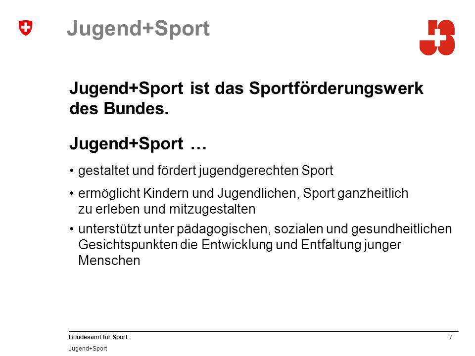 Jugend+Sport Jugend+Sport ist das Sportförderungswerk des Bundes.