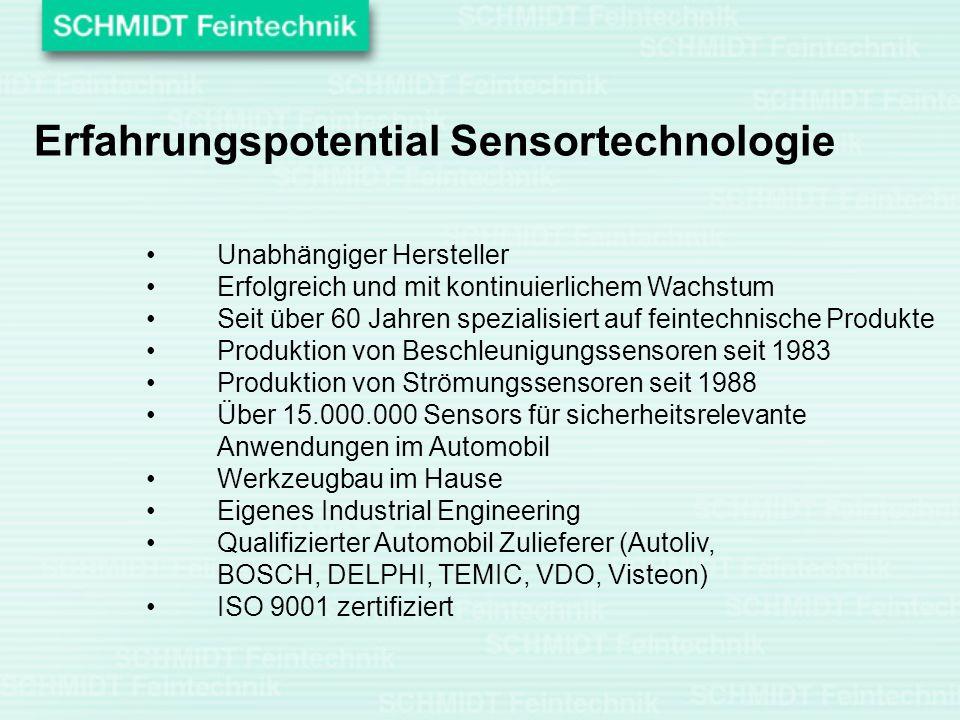 Erfahrungspotential Sensortechnologie