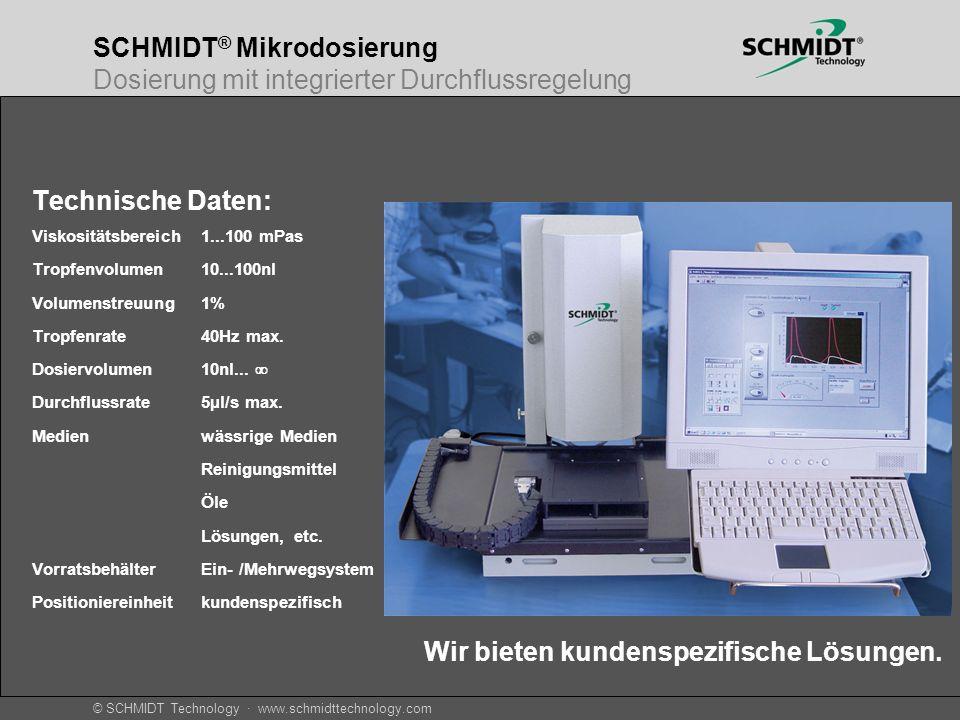 SCHMIDT® Mikrodosierung Dosierung mit integrierter Durchflussregelung