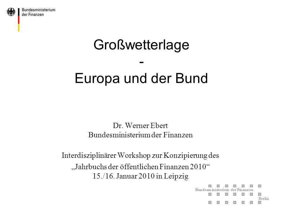 Großwetterlage - Europa und der Bund