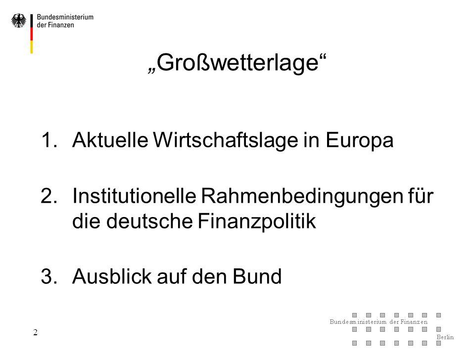 """""""Großwetterlage Aktuelle Wirtschaftslage in Europa"""