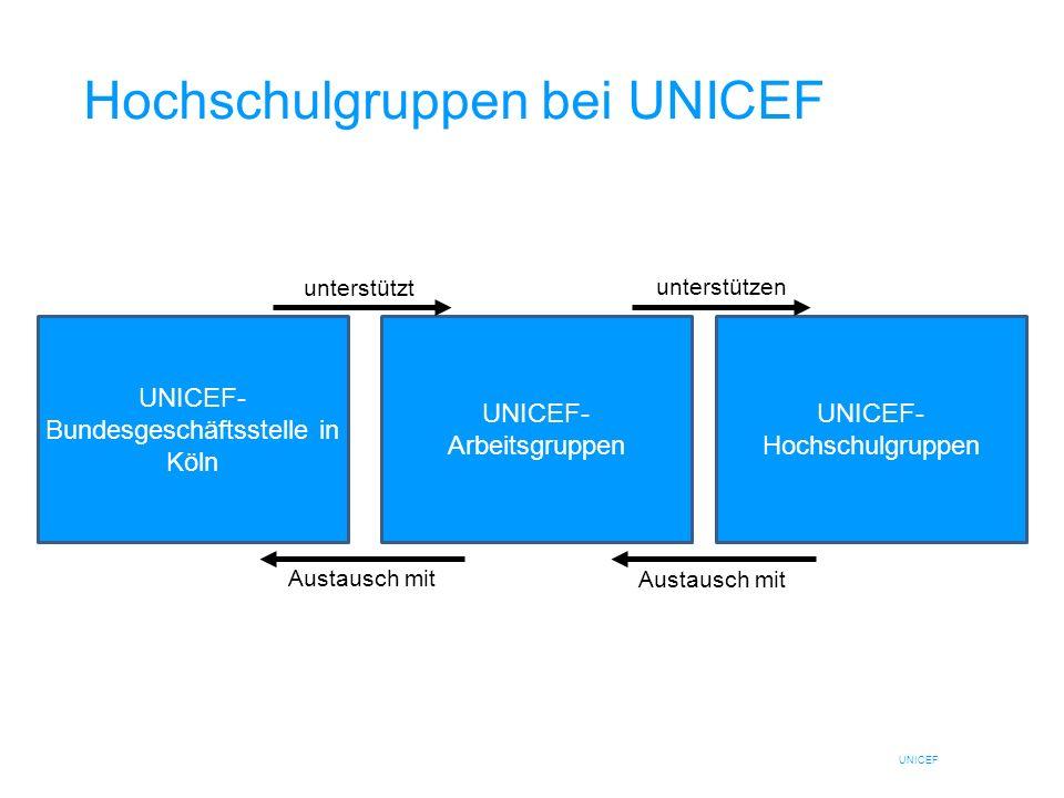 Hochschulgruppen bei UNICEF