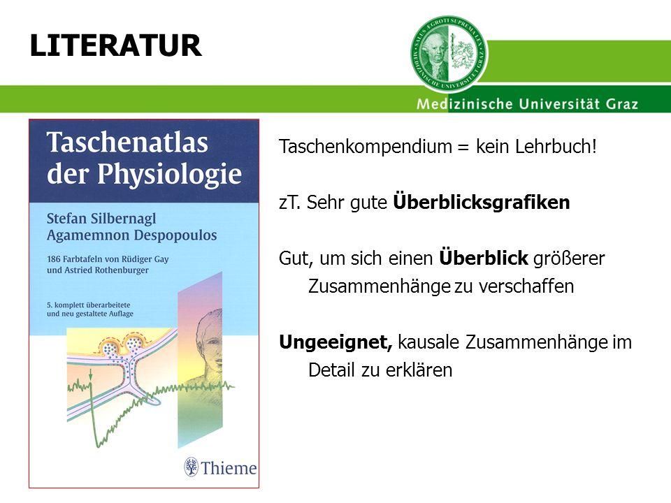 LITERATUR Taschenkompendium = kein Lehrbuch!