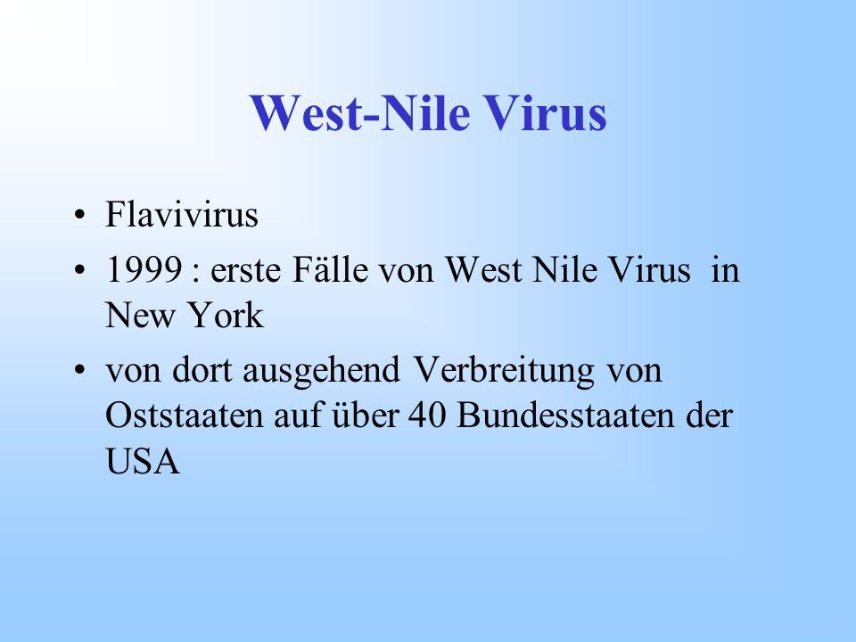 West-Nile Virus Flavivirus