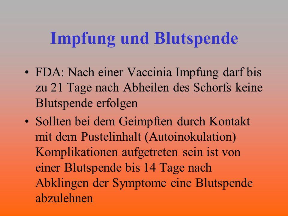 Impfung und Blutspende
