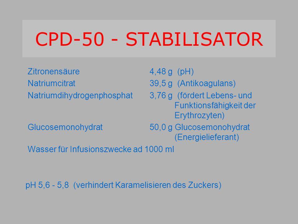 CPD-50 - STABILISATOR Zitronensäure 4,48 g (pH)
