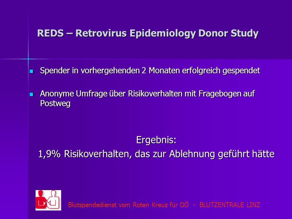 REDS – Retrovirus Epidemiology Donor Study