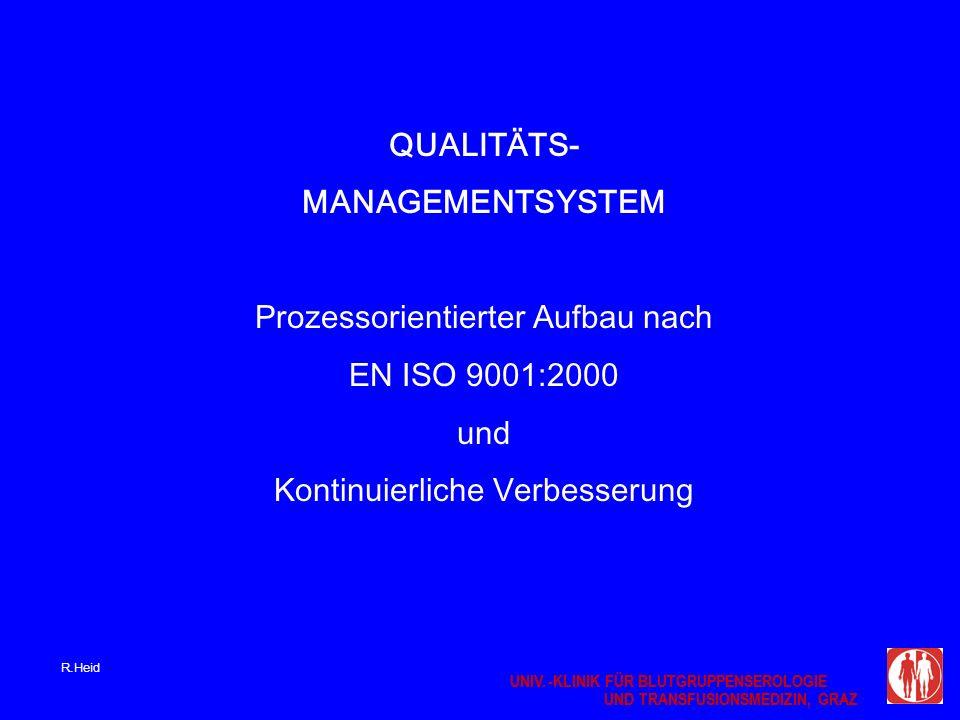 Prozessorientierter Aufbau nach EN ISO 9001:2000 und