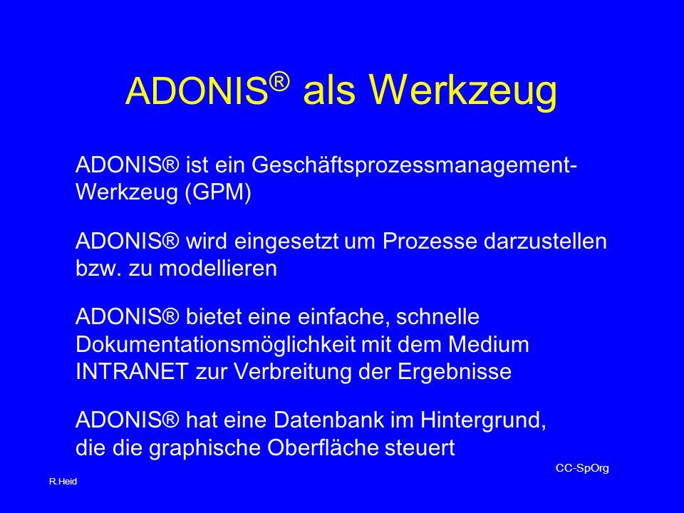 ADONIS® als Werkzeug ADONIS® ist ein Geschäftsprozessmanagement-
