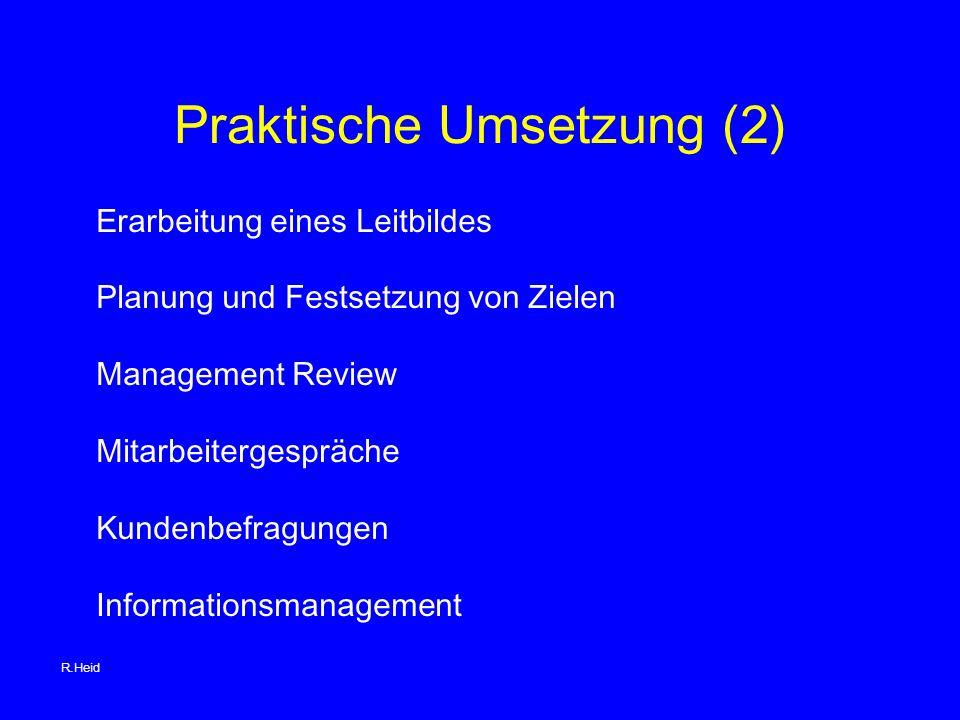 Praktische Umsetzung (2)
