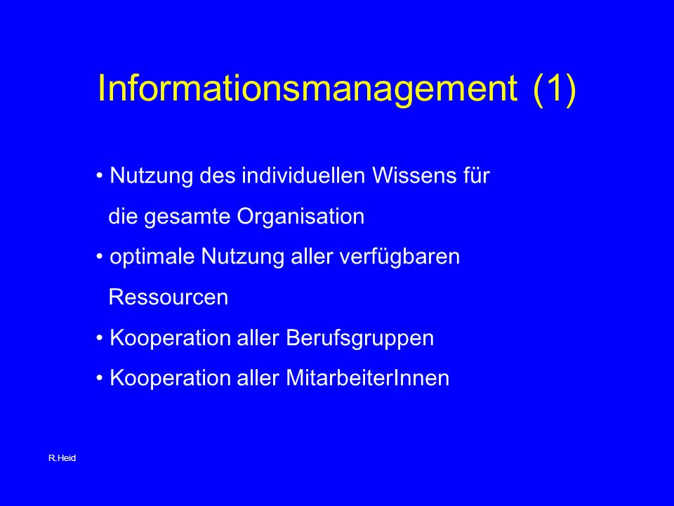 Informationsmanagement (1)