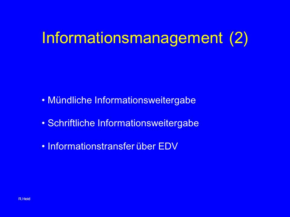 Informationsmanagement (2)
