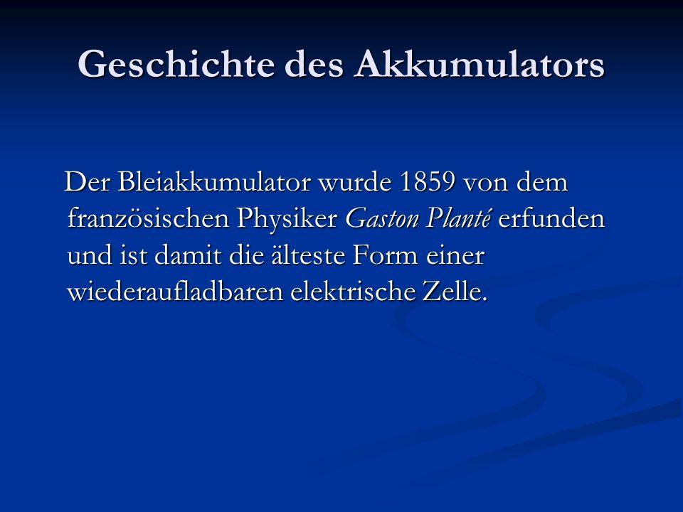 Geschichte des Akkumulators