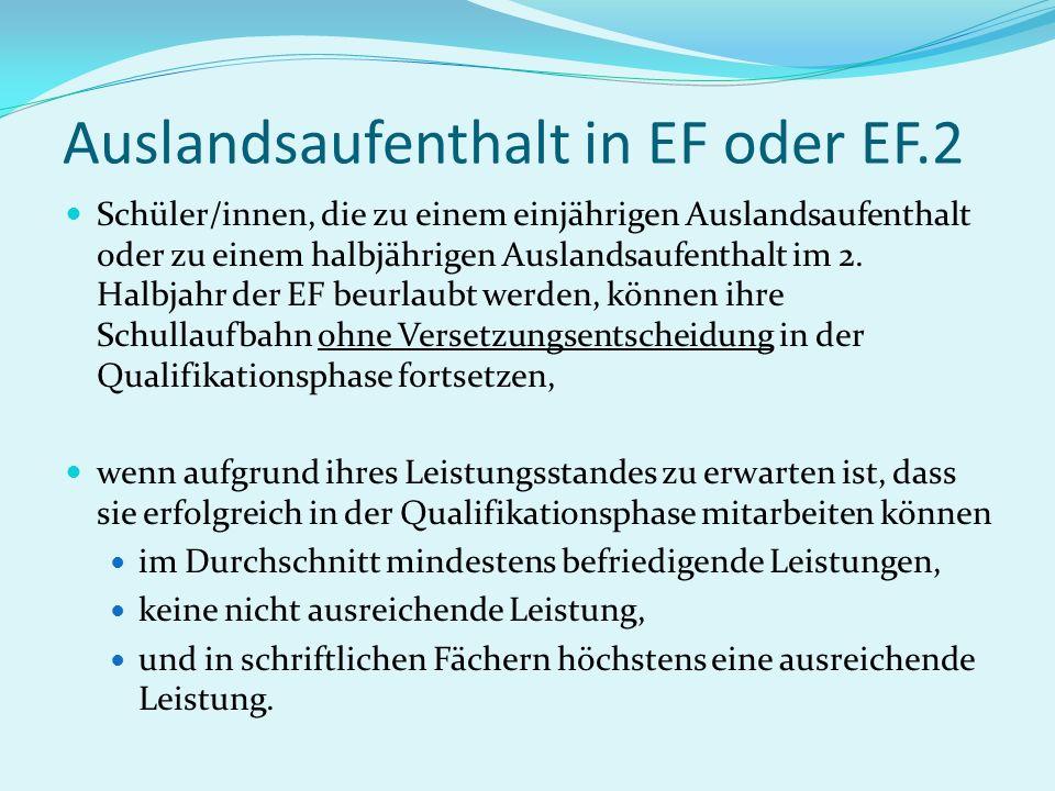 Auslandsaufenthalt in EF oder EF.2