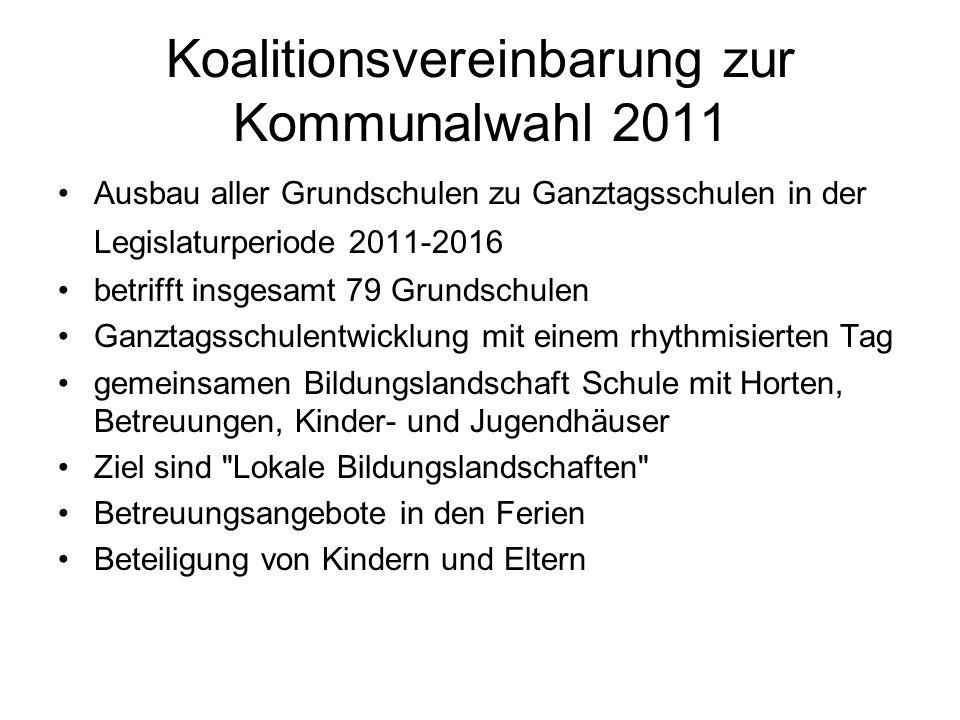 Koalitionsvereinbarung zur Kommunalwahl 2011