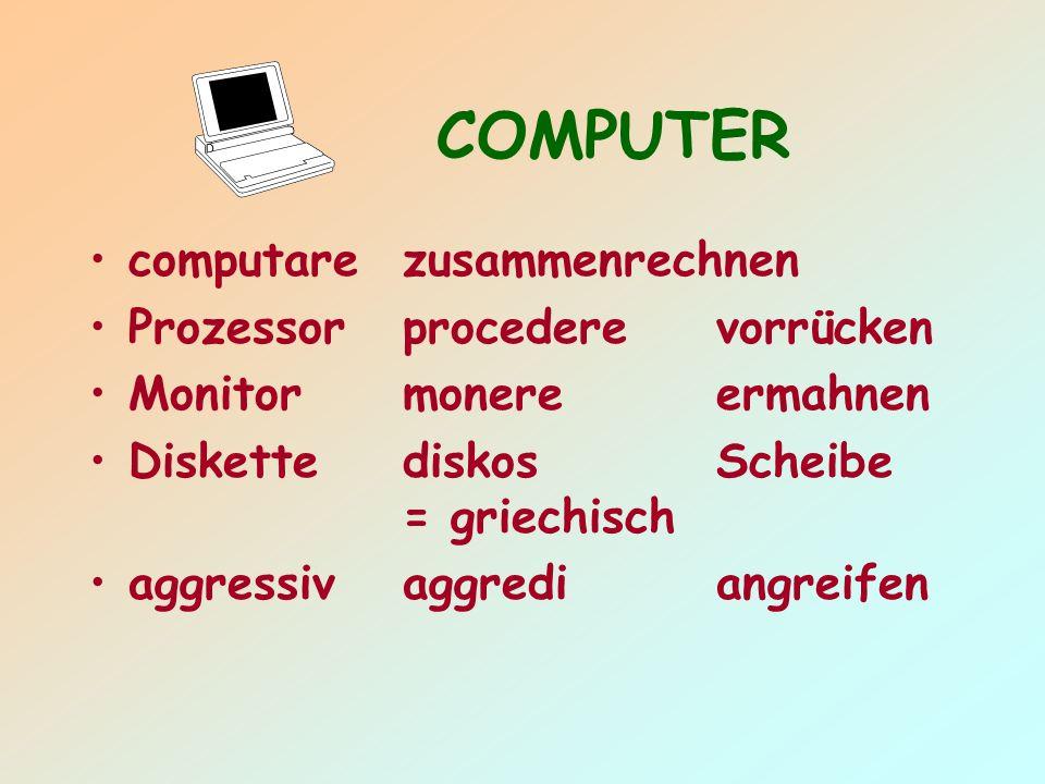 COMPUTER computare zusammenrechnen Prozessor procedere vorrücken
