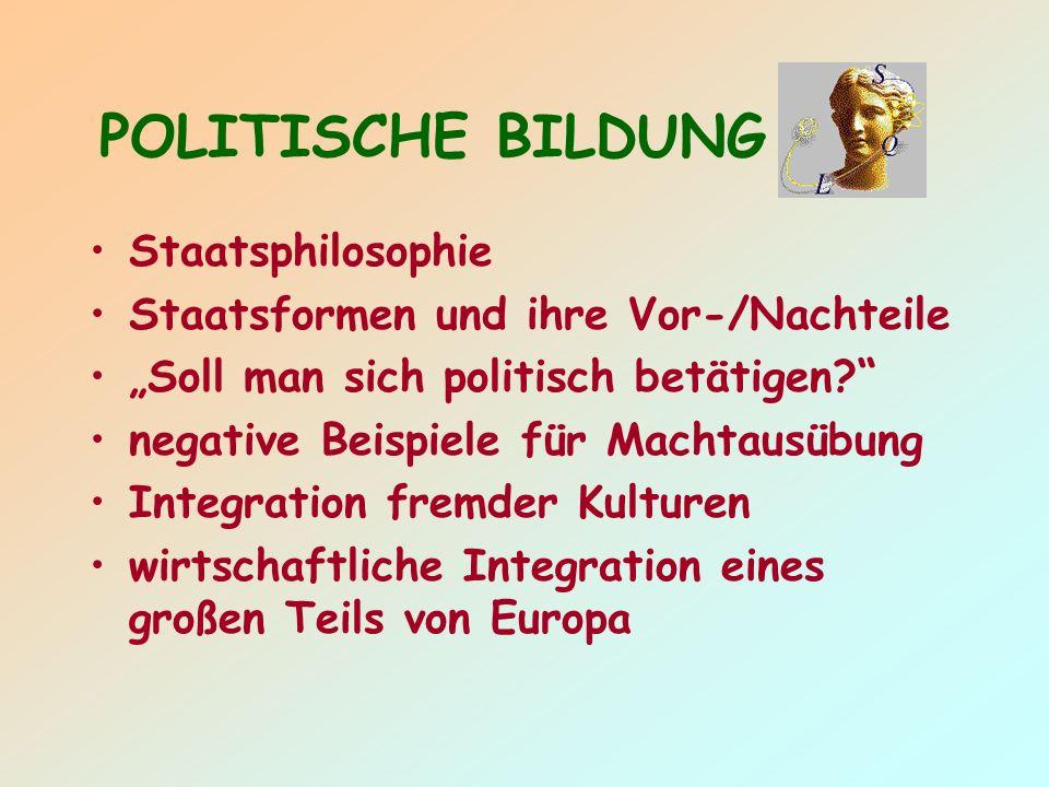 POLITISCHE BILDUNG Staatsphilosophie