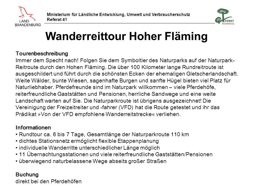 Wanderreittour Hoher Fläming