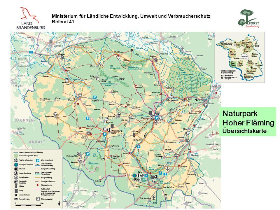 Naturpark Hoher Fläming Übersichtskarte