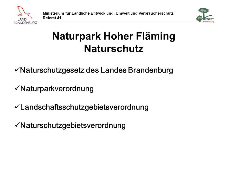 Naturpark Hoher Fläming Naturschutz