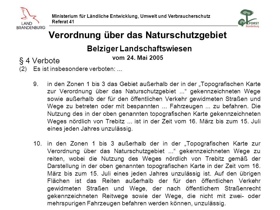 Verordnung über das Naturschutzgebiet Belziger Landschaftswiesen vom 24. Mai 2005