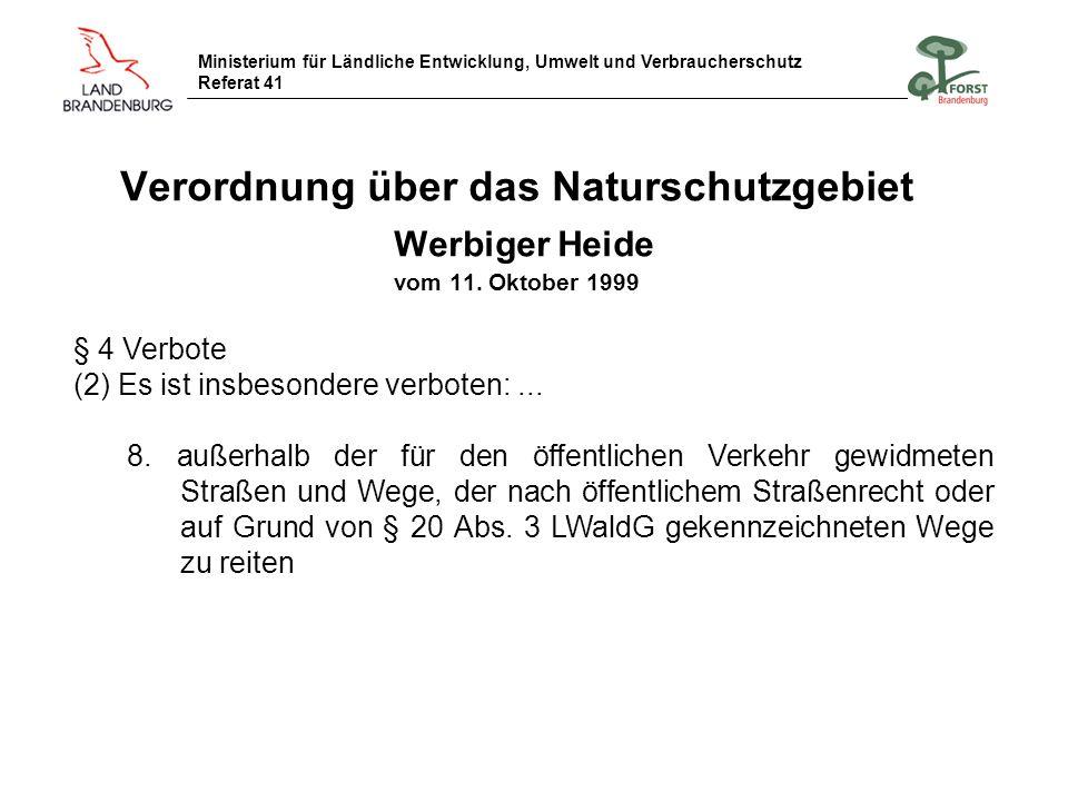 Verordnung über das Naturschutzgebiet Werbiger Heide vom 11