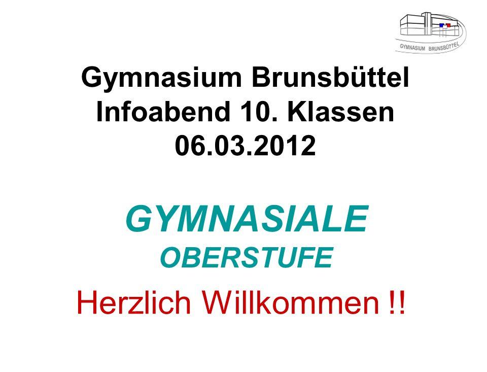 Gymnasium Brunsbüttel Infoabend 10. Klassen 06. 03