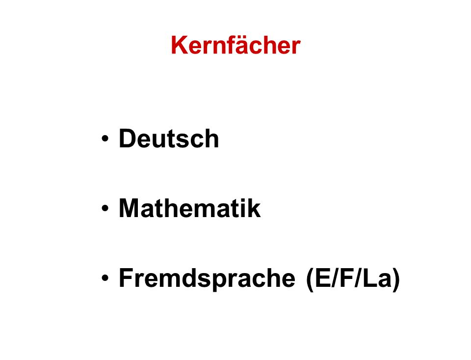 Fremdsprache (E/F/La)
