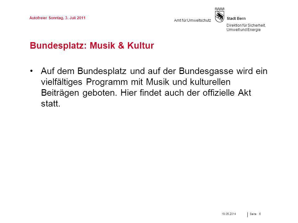 Bundesplatz: Musik & Kultur
