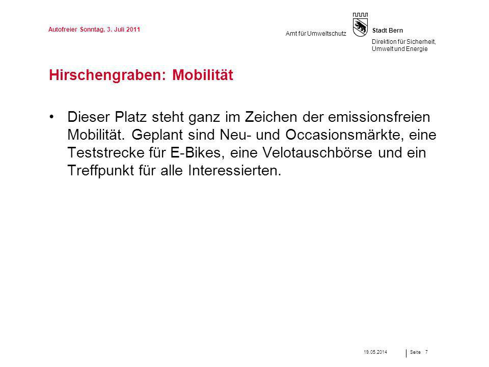 Hirschengraben: Mobilität