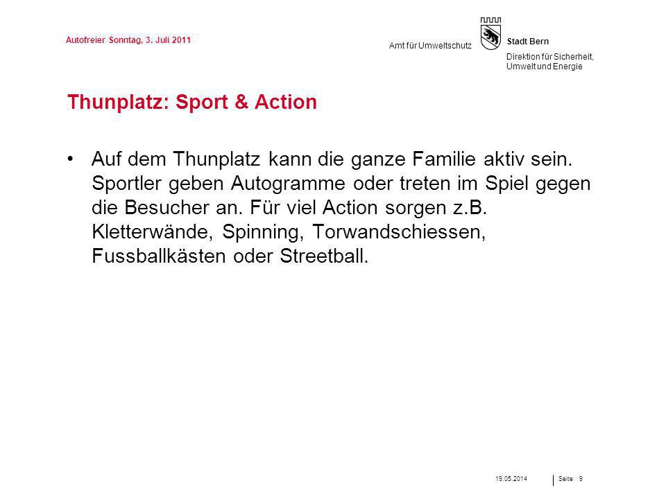 Thunplatz: Sport & Action