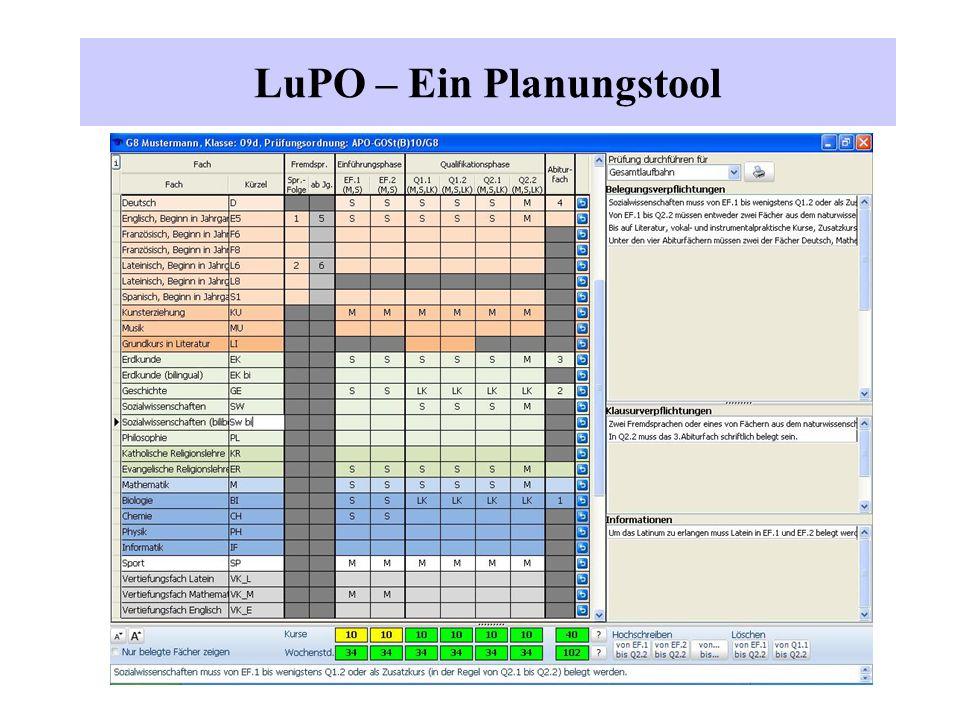 LuPO – Ein Planungstool