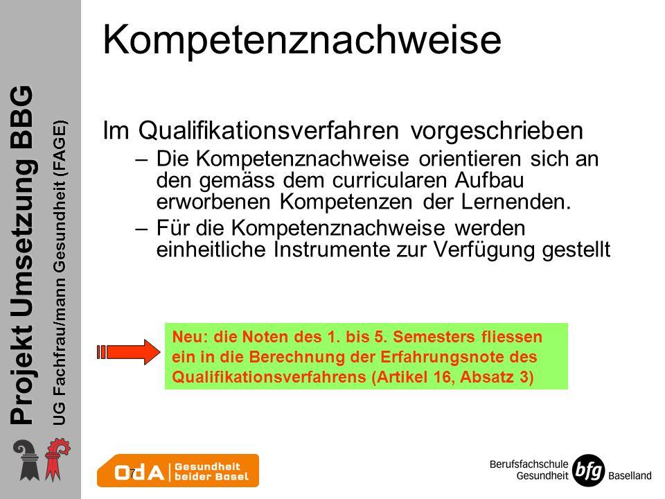 Kompetenznachweise Im Qualifikationsverfahren vorgeschrieben