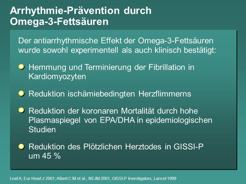 Arrhythmie-Prävention durch Omega-3-Fettsäuren