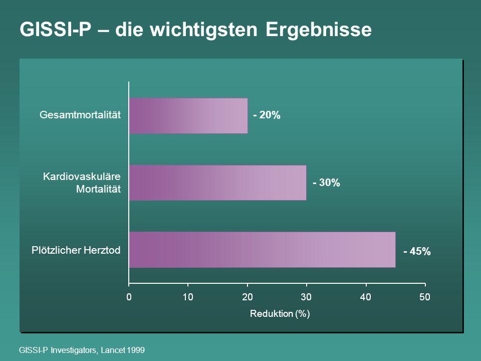 GISSI-P – die wichtigsten Ergebnisse