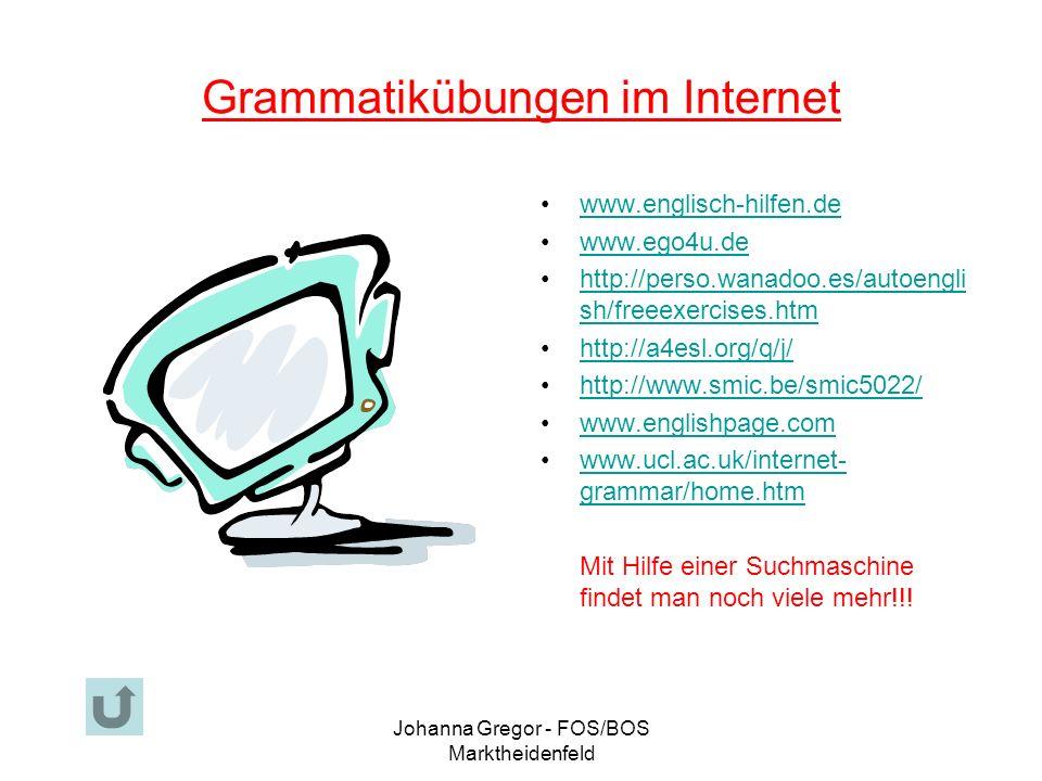 Grammatikübungen im Internet